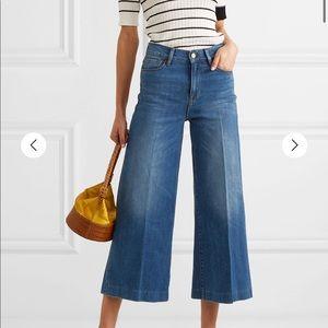 Frame le vintage crop wide leg jeans
